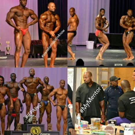 My Competition Coach Winning his Pro Card